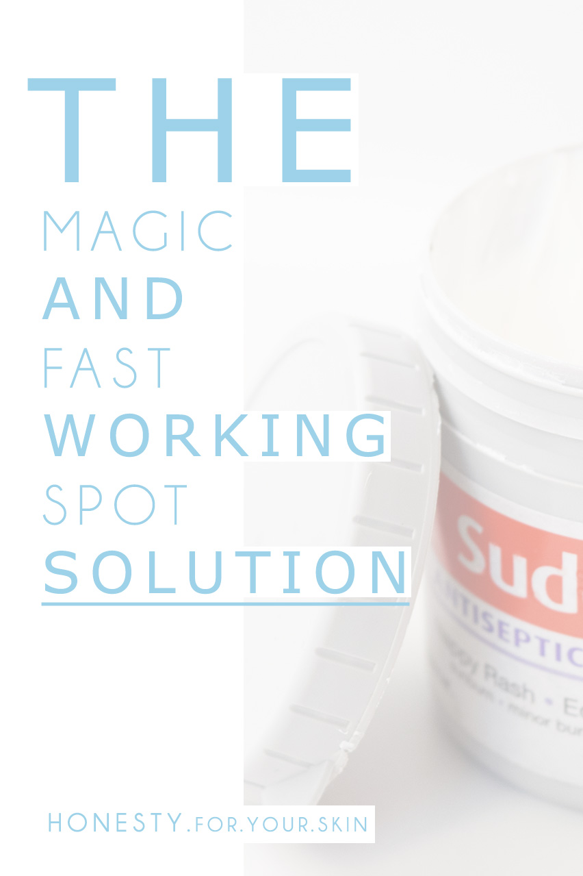 The magic and fast working spot treatment, that not many people know about!