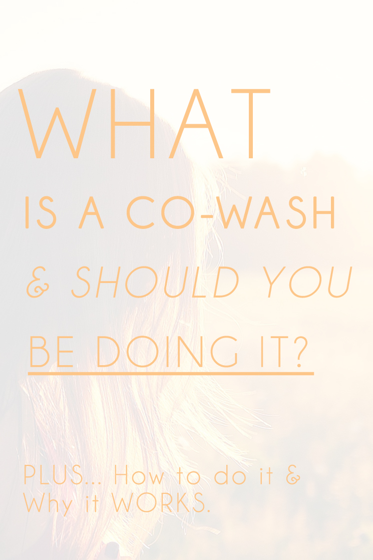 Have you heard of a CO-WASH?