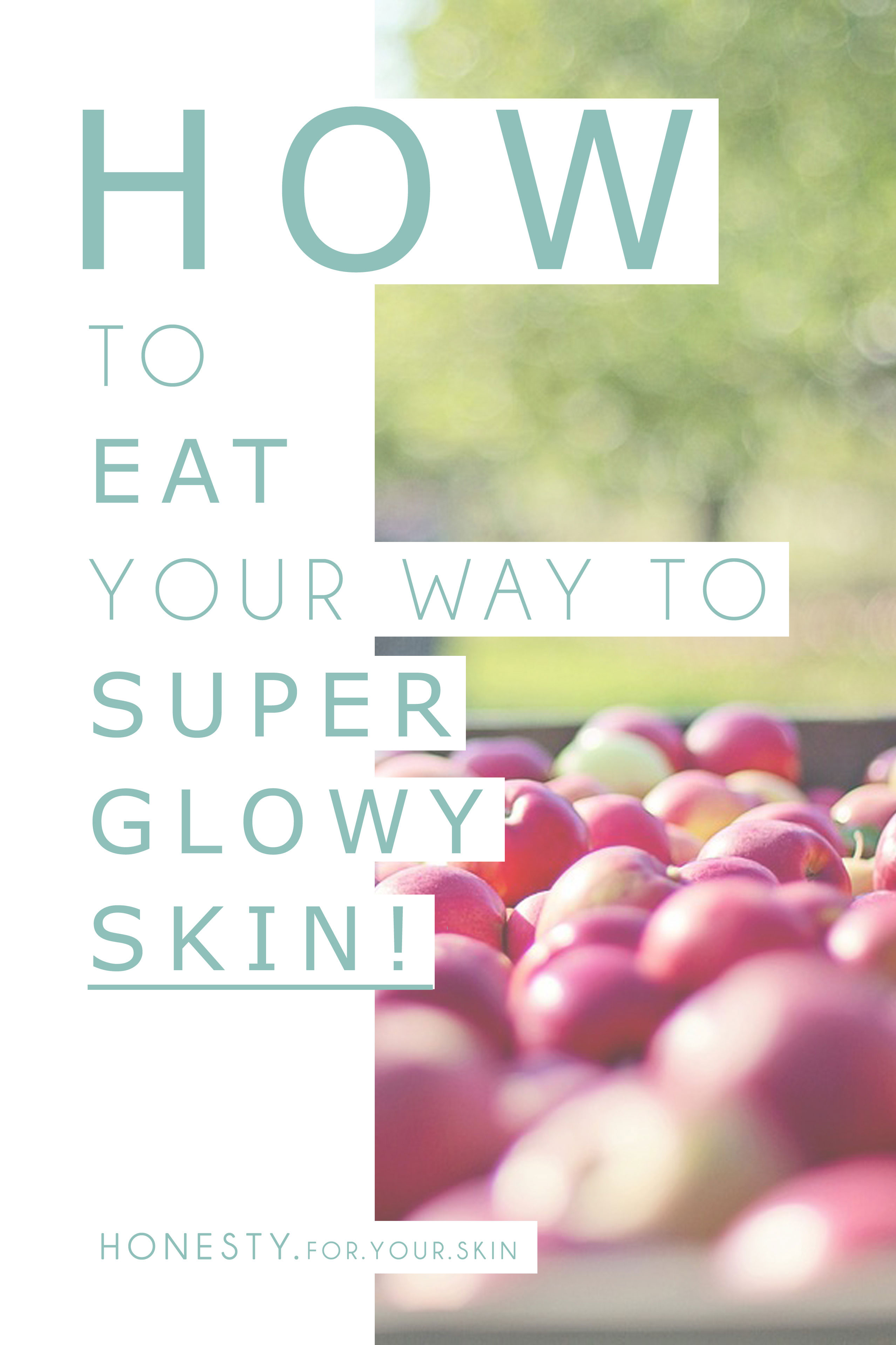 Outside-In is only half the story when it comes to GREAT skin. Inside-out means EATING foods that MAKE great skin. Your skin 're-news' COMPLETELY every 28 days, that means a change in your diet will take about 28 days to see the FULL effects of. Here is a trusty guide to eating well for SUPER radiant, healthy & 'glowy' skin.