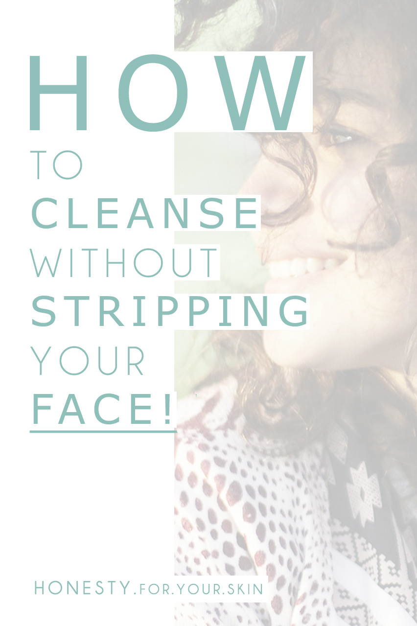 Cleansing is STRIPPING your face of its natural oils and super-secret skin protection, luckily there is a better way to cleanse skin!