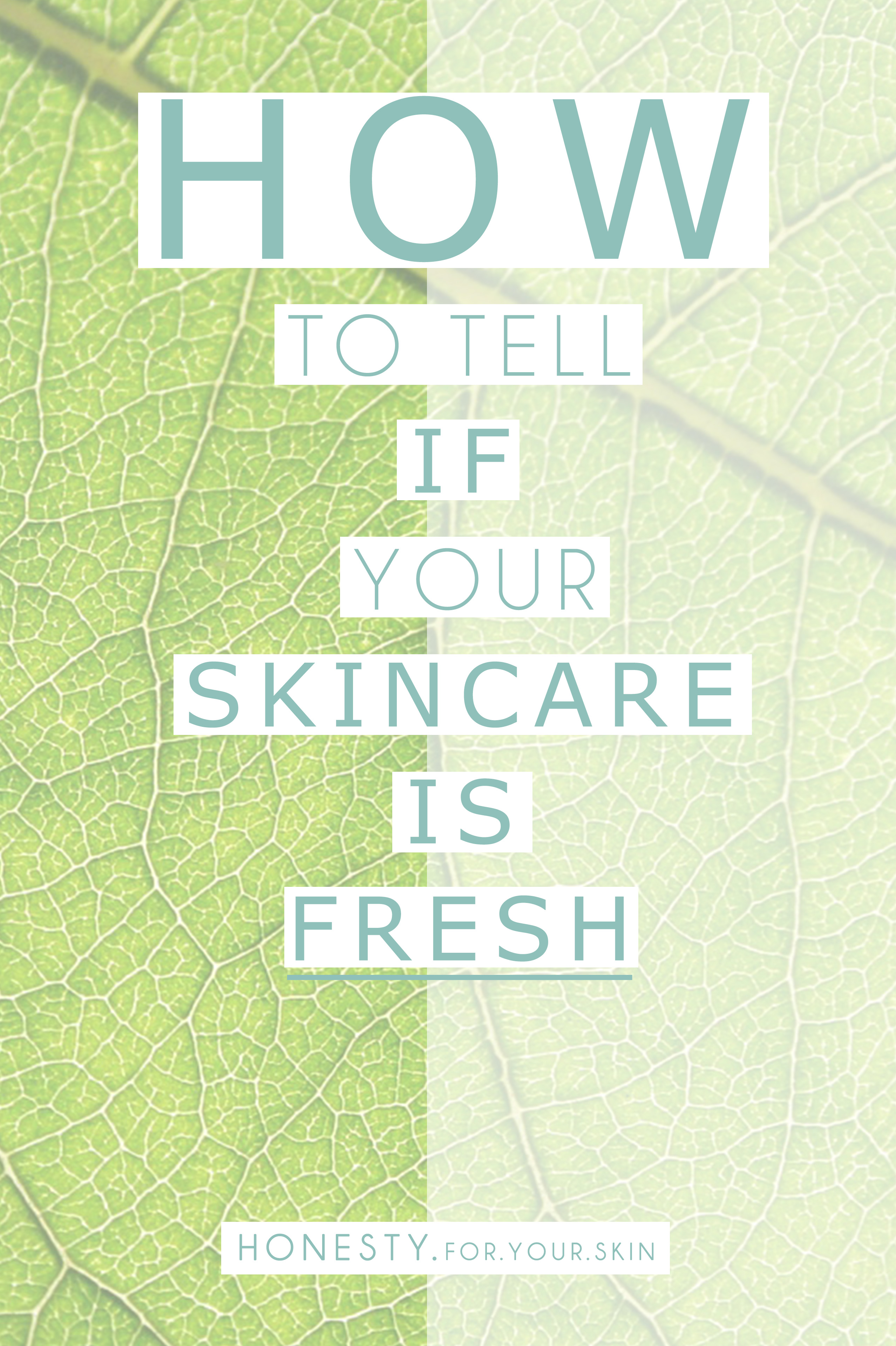 Do you KNOW how to tell how FRESH your skincare is and when it was made? There's 2 different ways that tell us how fresh 'n active a skincare yummy is, these are the 2 ways to tell...!