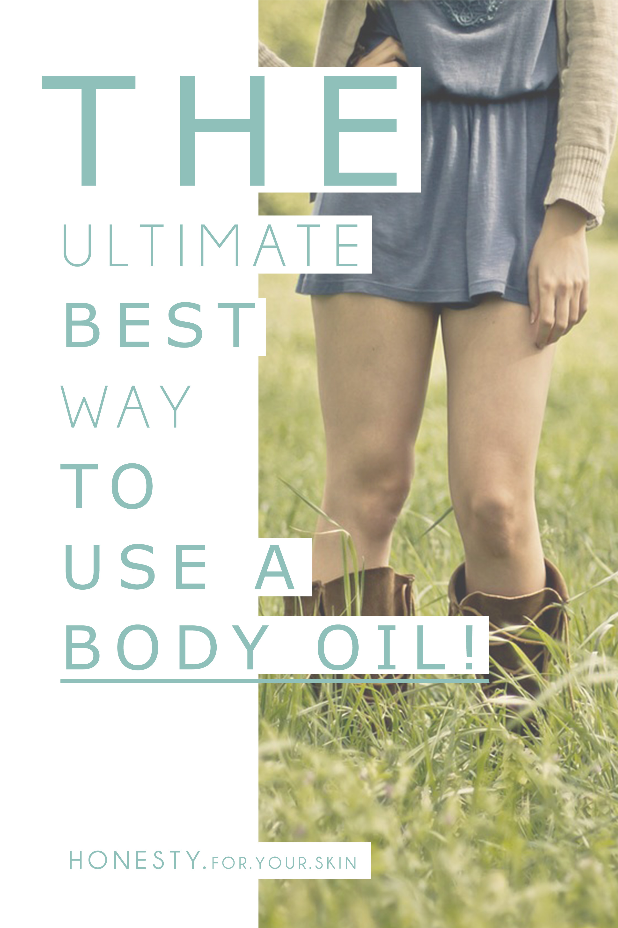Why you should absolutely consider having a good bonding session with the body oil PLUS the absolute ultimate BEST way to use a body oil to get skin beaming!
