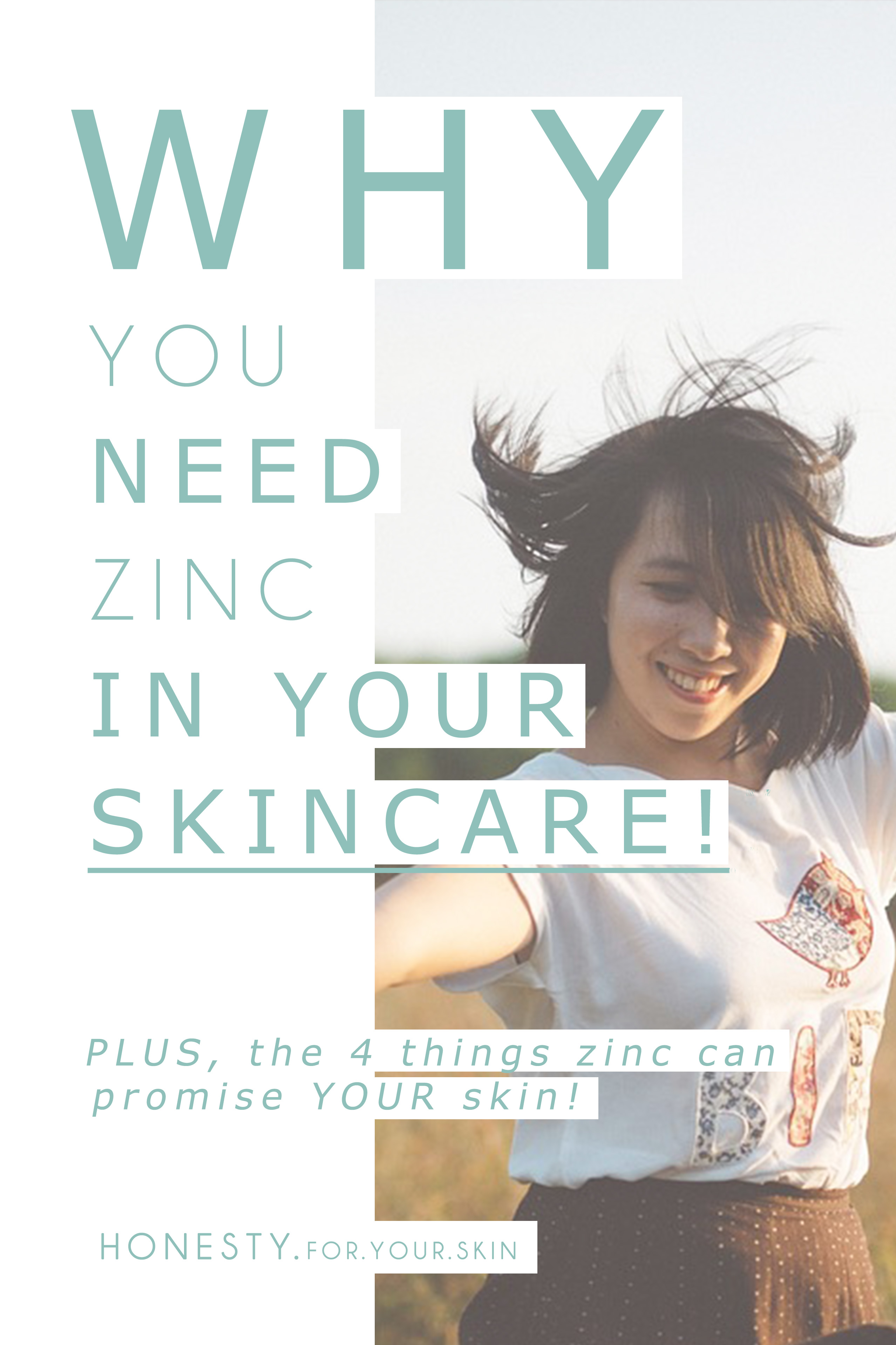 ALL you need to know about ZINC in skincare. The 4 awesome things Zinc does for skin... PLUS were to find Zinc in skincare and food!!