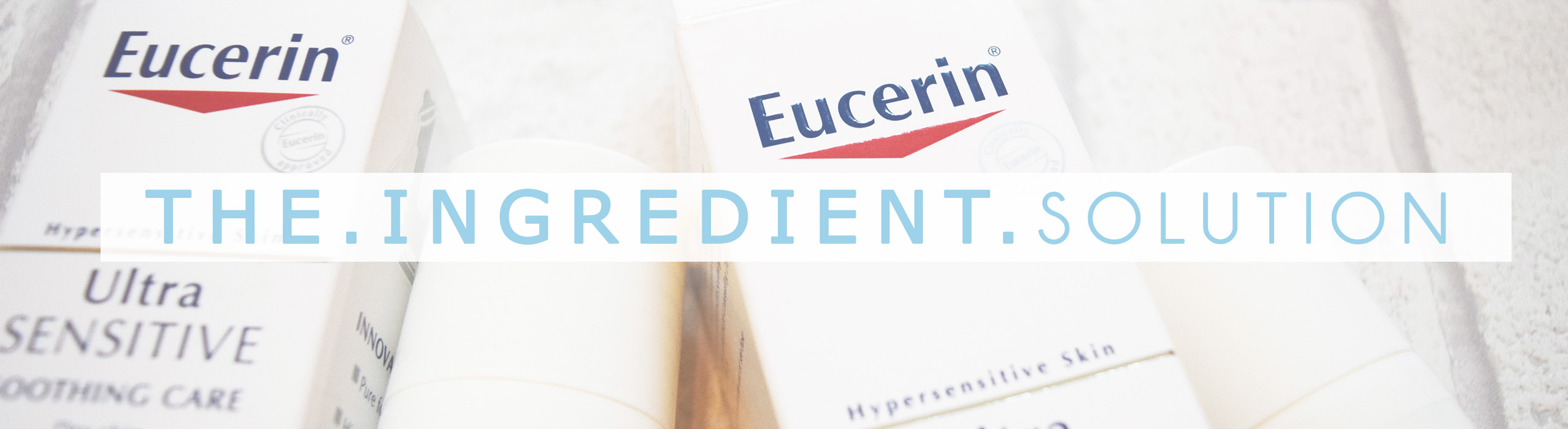 Hypersensitive skincare solution! Eucerin with SymSitive - crazy awesome at stopping sensitive skin from over reacting!