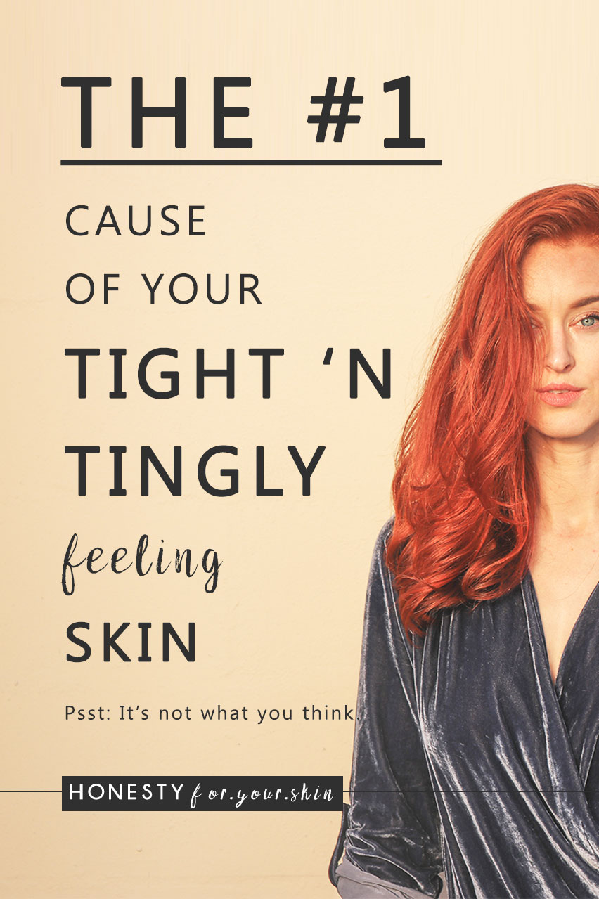 When skin feels tight you are experiencing a warning sign of skin damage. And they key questions are these - What does it mean when your skin is tight? What does it mean when the skin on your face feels tight and burning? And why oh why does my skin feel tight after moisturising? Here's what's a 'happening my friend…