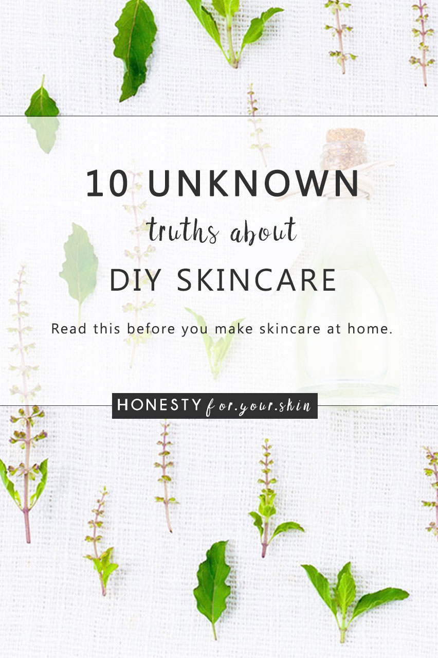 Homemade skincare - getting your DIY apron on and whipping up a Shea butter rub can be a whole load of fun. That's probably just the side effect though and I'd take a guess that your key driver for making homemade skincare is to really KNOW what it is you're slathering into your skin. Before you make homemade skincare, know these 10 truths, there's also a hack for navigating the Pinterest DIY skincare recipes. Click through to read more.