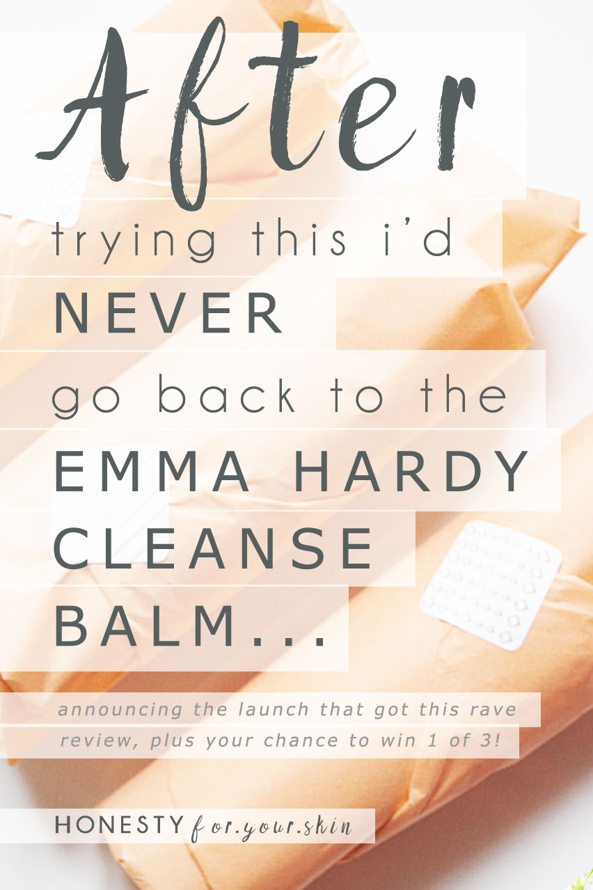 'After trying this, I'd never go back to the Emma Hardy Cleansing Balm again...' it's pre-official launch reviews like this that have kept me on the 'straight 'n narrow' over the last 9 months instead of veering off down 'crazy I am now my only work colleague' street *winks*. Today I'm announcing that in 3 days time the official capsule range of 'Honesty Skincare' is going to be launching. Naturally based, ingredient conscious skincare that always has your long term skin health as its no.1 priority... enter the launch giveaway here...  http://wp.me/p6LuQS-Wb