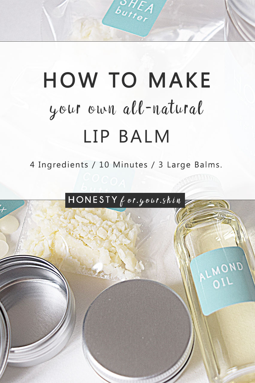 How to make your own homemade all natural lip balm with this