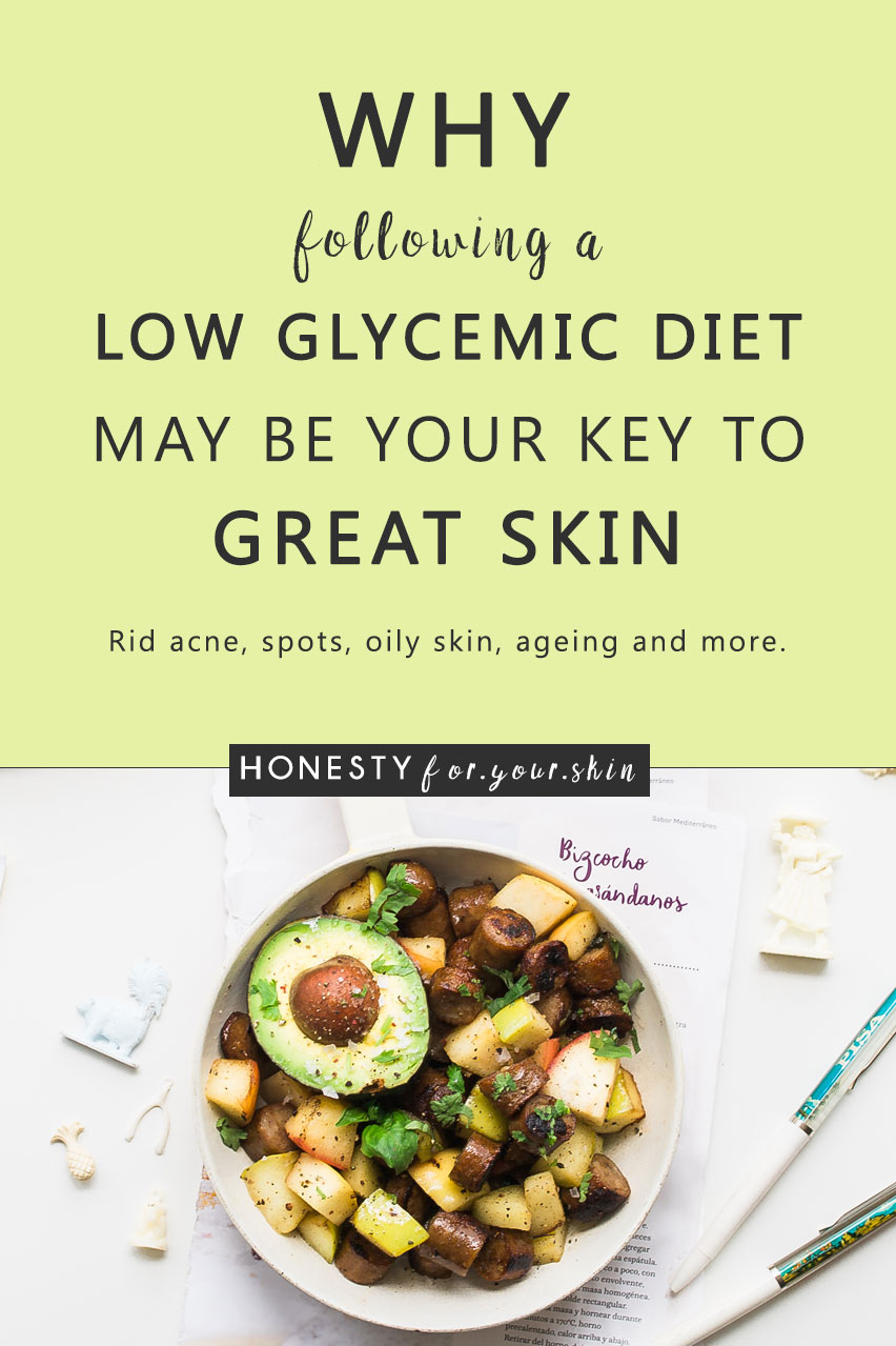 Low glycemic diet - have you heard of such a thing? If you're currently on the quest for fabulous skin - glycemic index is a must know. It sounds strange, it's the kind of word spellcheck was invented for and it looks just a wee-bit complicated. Trust me my friend - following a low glycemic diet is none of these things. A low glycemic diet is a fabulous approach to healthy eating for great skin. It can help to treat an oily/combination skin type, it can help calm acne, it can manage skin sensitivity, it can help avoid pimples, it can even delay fine lines and wrinkles.