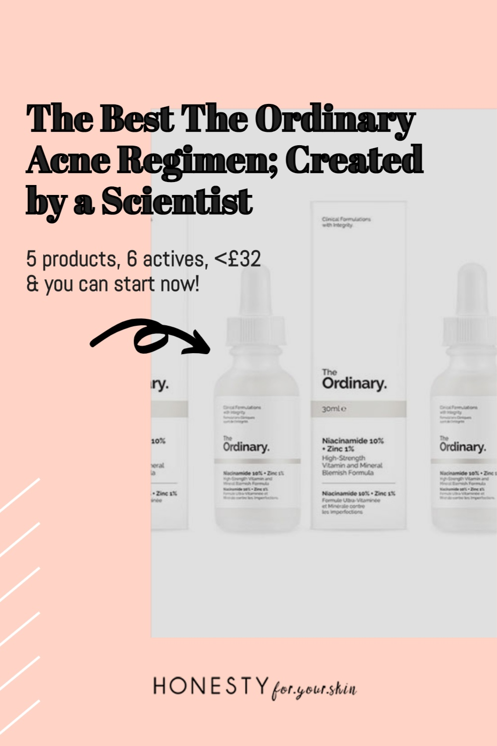 Looking to kick butt to your acne? Have spots that revolve in a 30 day cycle and skin that never seems clear? Want to treat your acne intelligently with skincare that's effective and (best part) doesn't break the bank? Yes? Well you my friend are in need of something called the ordinary acne regimen - the irony is, the products you'll be using alongside their actives and price tags are not so ordinary at all. Come see what I mean. Click to read more about The Ordinary acne regimen.