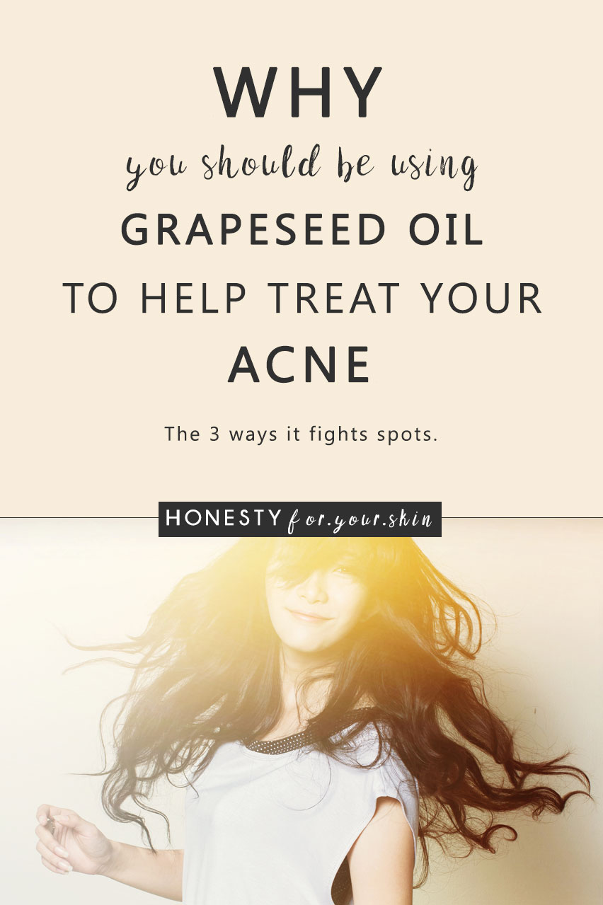 Using oil to treat your acne might sound crazy but the science is real. Grapeseed oil for acne has great benefits... for the right types of acne.