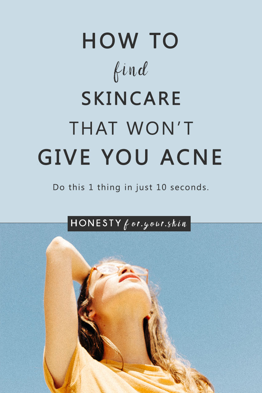 When you have oily, acne prone skin, having skincare, or makeup break you out is the very last thing you want to happen. Knowing that certain types of skincare can cause you spots is one thing, choosing the non-comedogenic skincare from the comedogenic skincare is a complete other ballgame. Here's how to do it in just 10 seconds.