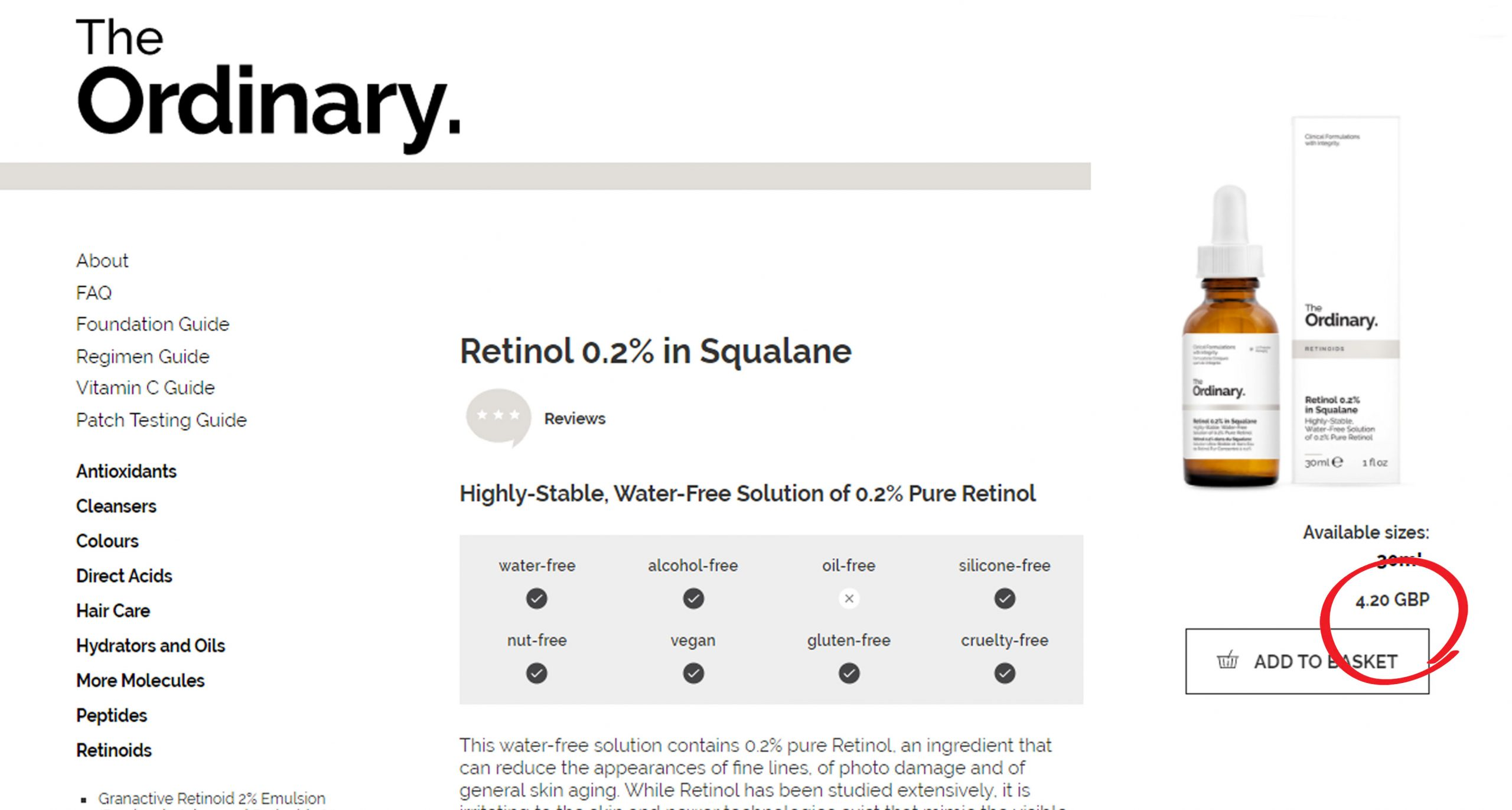 The Ordinary retinol review with retinoids from as little as £4.20. These are budget retinoids in concentrations which work.