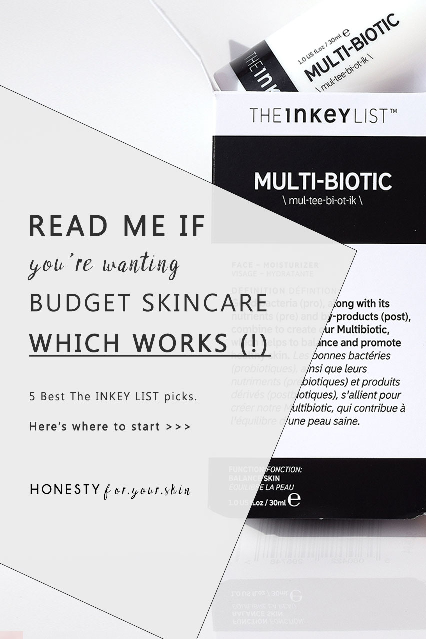 The INKEY List skincare review. Best 5 products from The INKEY List skincare range. The science behind them. Why they work. Which actives they have. Get the need to know here.