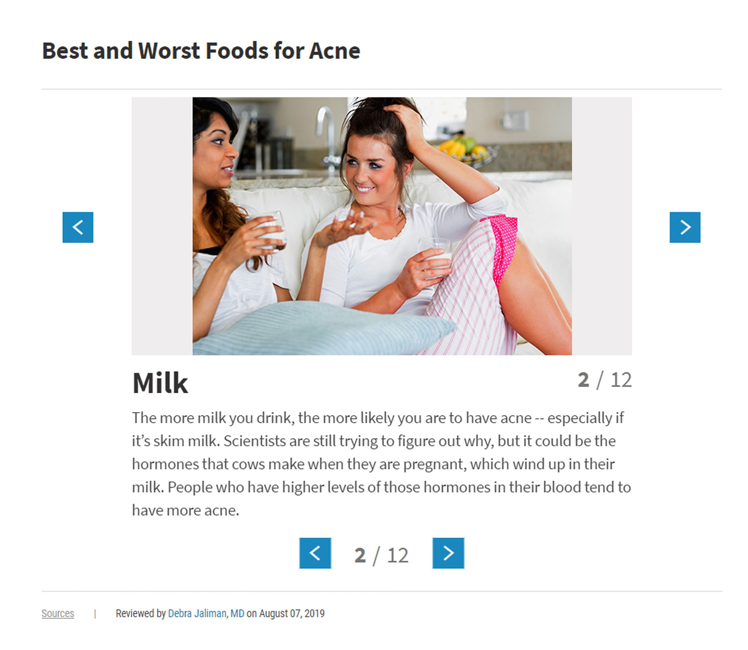 List of foods that cause acne. These are some of the best and worst foods for acne – as proven by science.