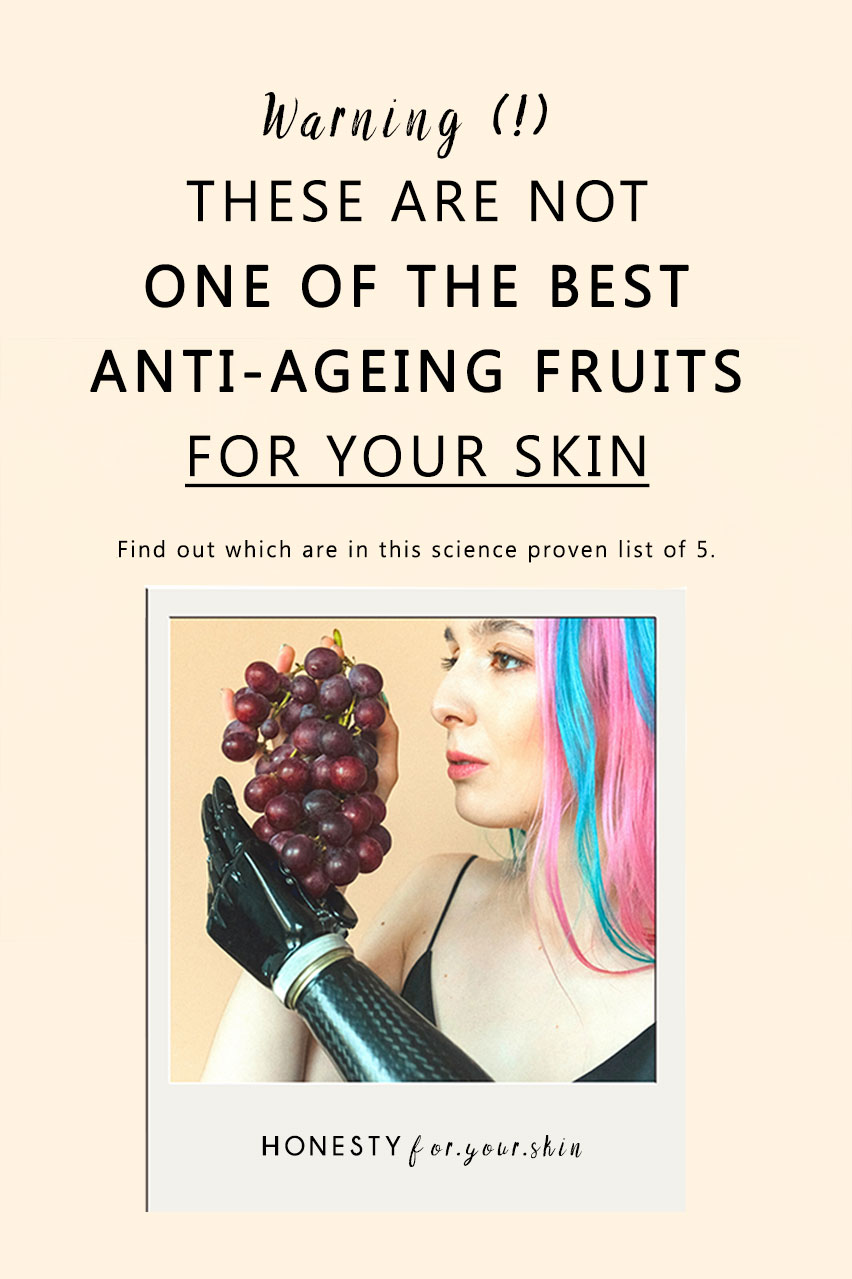 What foods can make you look younger? Is banana good for anti-ageing? Are grapes good for anti-ageing? What are the best anti-ageing fruits for your skin? Psst – it's not grapes. Even though they contain potent anti-ageing resveratrol. Find out more here in this blog.
